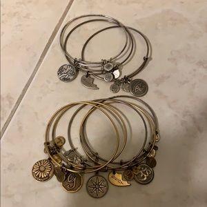 Alex and Ani bracelet. 8 total.